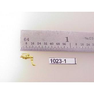 """1023-1 - HO Scale - Steam Loco,whistle, 1/4""""H      Boo Rim   - Pkg. 1"""