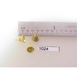 "1024 - HO Scale - Steam Loco,bell  1/8""H body      Boo Rim - Pkg. 1"