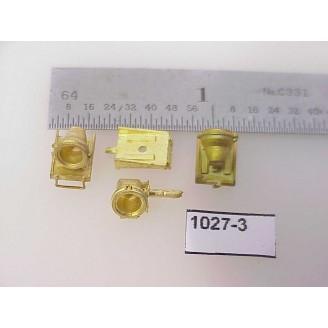 """1027-3 - HO Scale - Steam Loco,headlight,  Mars light w/bracket (Milw. 4-8-4, etc.) cored 7/32""""W x 3/16"""" - Pkg. 1 set"""