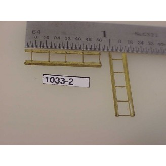 "1033-2 - HO Scale - Ladders, 5-rung, 7/8"" tall, 3/16"" wide - Pkg. 2"