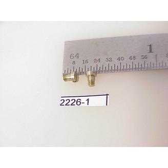 2226-01 - Metric Screws, steam loco, drawbar etc, 2mm x 3mm long, 1.25mm long thread - Pkg.2