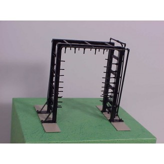 HO Locomotive Wash Rack. (High Pressure Wash-Rinse). All Brass Construction, Factory Painted - Price HO scale  $229 - (Shipping cost HO  $14.95)