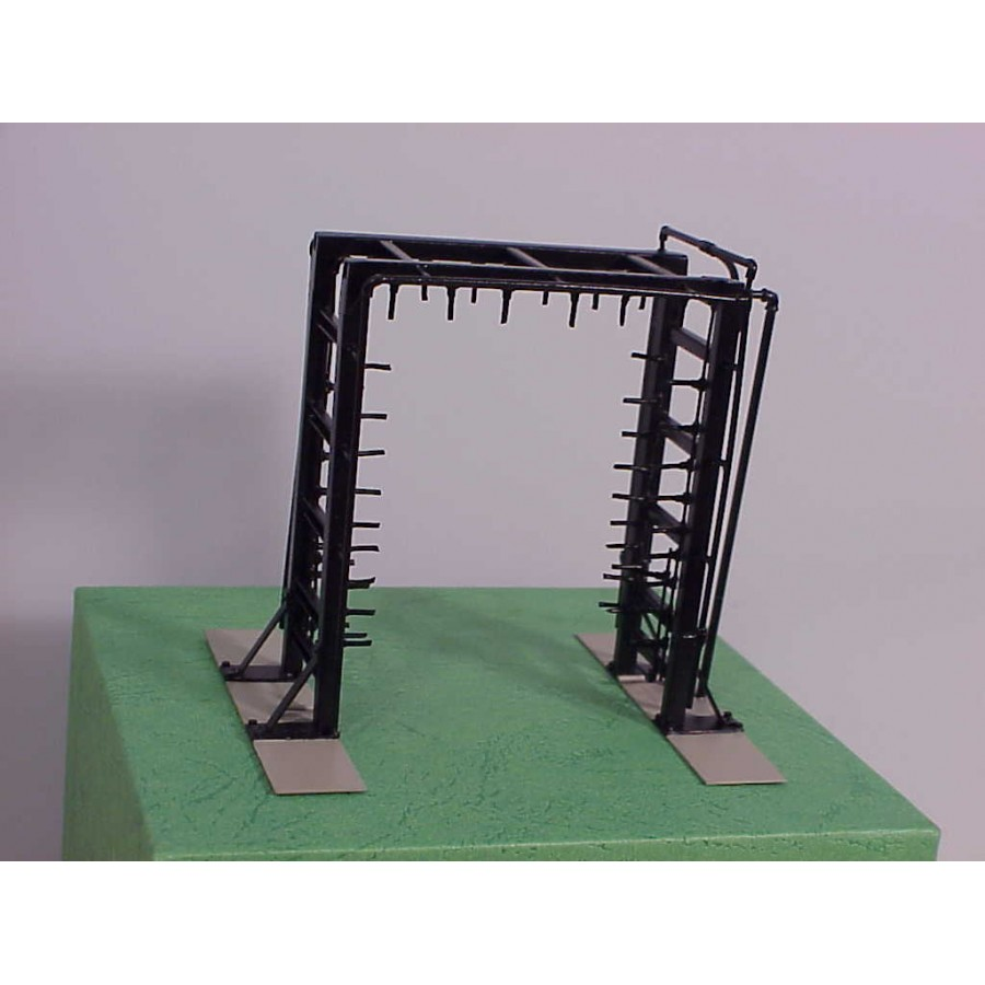 HO Locomotive Wash Rack High Pressure Rinse All Brass Construction Factory Painted