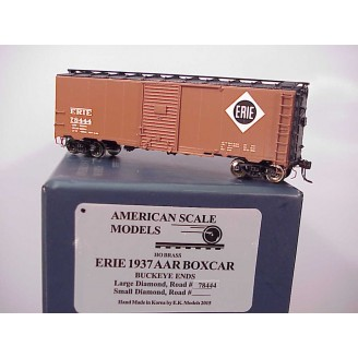 HO - Erie 1937 AAR Boxcar Car # 78444