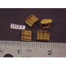 1416-4 - Caboose step boxes, w/ see-thru Blaw-Knox tread, no cut-lever bracket, 9/32H x 5/16W - Pkg. 4