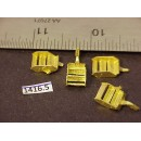 1416-5 - Caboose step boxes, wood tread w/ cut-lever bracket, 5/16W x 7/16H - Pkg. 4