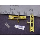 1444 - Caboose brake stands, w/ fulcrum & step, 15/16H - Pkg. 2