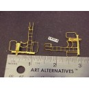 "1450-4 - Caboose end railing assembly, ladders, brake stand, (no wheel) w/ curved ladder top, 1""W x 1-1/2 to ladder top - Pkg. 2"