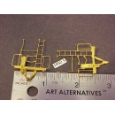 "1450-5 - Caboose end railing assembly, ladders, brake stand, straight ladder top, 1""W x 1-3/16 to ladder top - Pkg. 2"