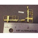1450-6 - Caboose end railing assembly, ladders, brake stand, (no wheel), short ladders, 1-1/8W x 3/8 to top of railing - Pkg. 2