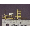 "1450-8 - Caboose end railing assembly, ladders, brake stand, (no wheel) 1-1/8W x 1/2"" to top of railing - Pkg. 2"
