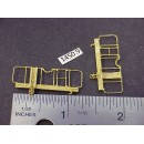 "1450-9 - Caboose end railing assembly, ladders, brake stand, (no wheel), 1-1/8W x 1/2"" to top of railing - Pkg. 2"