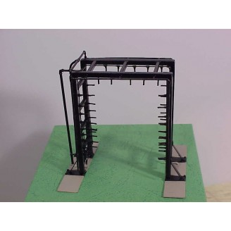 O Locomotive Wash Rack. (High Pressure Wash-Rinse). All Brass Construction, Factory Painted - Price O scale  $279