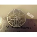 "957 - Overland diesel fan cover etching; 1-17/64"" diameter,flat (SD70Ace.,etc.) - Pkg. 1"