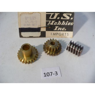 O Scale US Hobbies U-185 Steam Locomotive Brass Gearbox Gear Set  #107-3