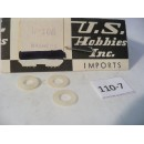 O Scale US Hobbies Steam Locomotive Hardware: Insulated Washers   #110-7