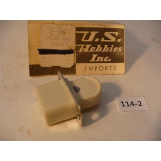 "O Scale US Hobbies Steam Locomotive Electrical: Locomotive to Tender ""Toaster"" Plug   #114-2"