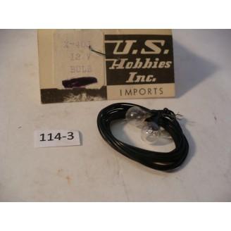 O Scale US Hobbies Steam Locomotive Electrical: 12V Headlight Bulb    #114-3