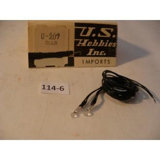 O Scale US Hobbies Steam Locomotive: Electrical Parts: 12V Special Bulb  #114-6